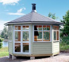 Back Deck, Backyard Projects, Pond, Gazebo, Paradise, Outdoor Structures, Landscape, House, Patio Decks
