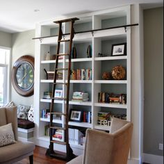dreamy bookcases w ladder