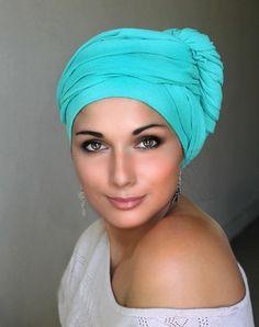 Jade Cotton Gauze Turban Head Wrap