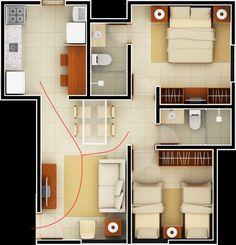 Planta baixa de casas modernas pequenas - Pesquisa Google