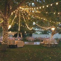 Best backyard wedding reception menu ideas one and only Outdoor Wedding Reception, Wedding Ceremony, Wedding Venues, Outdoor Weddings, Rustic Weddings, Romantic Weddings, Wedding Backyard, Outdoor Wedding Lights, Wedding Favors