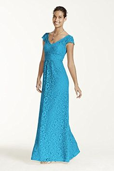 Long Cap Sleeve Lace Bridesmaid Dress Style F15981, Malibu, 16 David's Bridal http://www.amazon.com/dp/B00R1EJB6M/ref=cm_sw_r_pi_dp_VUCPvb0M3R7R2