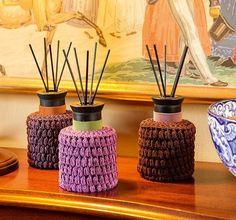 Gehäkelte Hüllen für Raumduft Tricks, Diffuser, Home, Sewing, Crochet, Weaving, Model, Pattern, Crochet Hooks