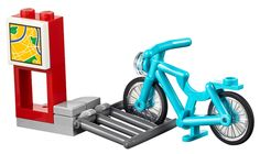 LEGO City BICYCLE in a BIKE rack / stand, with town MAP split from 40170 NEW | eBay