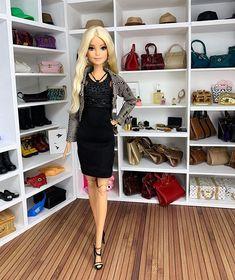 Barbie Fashionista, Barbie Collector, Barbie Dolls, Leather Skirt, Instagram, Leather Skirts, Barbie Doll, Barbie
