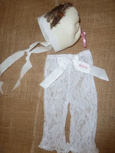 Vintage Newborn Lace Pant  Great for Photo Prop by sewsueprops, $22.00