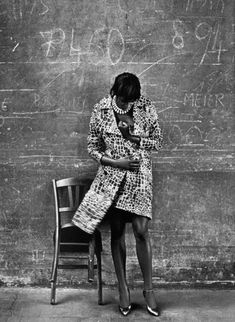 Naomi Campbell by Peter Lindbergh for Vogue Italia, November 2000