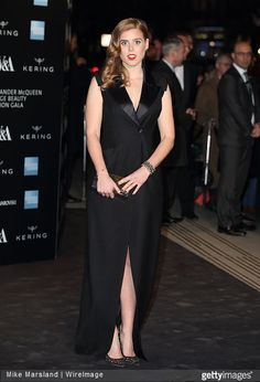 Princess Beatrice of York attends the Alexander McQueen: Savage Beauty Fashion Gala at the V&A, presented by American Express and Kering on March 12, 2015 in London