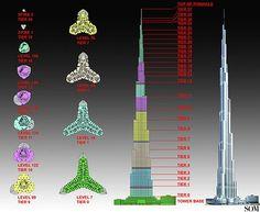 detail struktur burj khalifa - Google Search