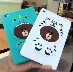 Cute Cartoon Bear Soft silicone Cases Cover For Apple ipad mini 1 2 3 4 ipad 5 air 1 ipad 6 air 2 Case Coque Fundas Shell Cute Ipad Cases, Ipad Air 2 Cases, Cartoon Bear, Cute Cartoon, New Ipad Pro, 6 Case, Ipad Mini, Bears, 3d