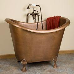 "41"" Teramo Copper Japanese Soaking Tub - Bathroom"