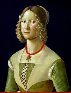 Contessina de 'Medici (1478-1515) Daughter of Lorenzo de Medici and Clarice Orsini. Wife of Piero Ridolfi