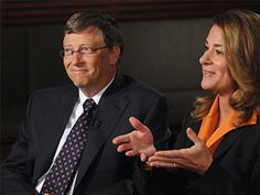 Bill and Melinda Gates - The primary aims of their foundation are, globally, to enhance healthcare and reduce extreme poverty, and in America, to expand educational opportunities and access to information technology.