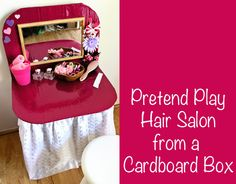 Pretend Play Hair Salon from a Cardboard Box | Childhood 101
