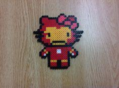 Iron Man Hello Kitty perler beads by Amanda Collison