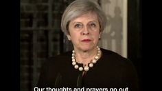 Theresa May speech on London terror attack: 'We will all move forward to...