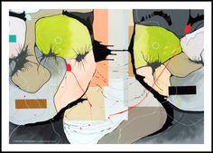 Connected / art poster 50 x 70 cm // Kunstplakaterne inviterer dig ind i Christina Julsgaards egen personlige og ekspressionistiske verden af indre oplevelser, mens dens abstrakte natur samtidig giver beskueren plads til at skabe dens egen fortolkning og knytning til det individuelle værk. Dermed bliver hver farverige kunstplakat til sit eget og oplevet anderledes alt efter hvem der er den aktuelle observatør. Se mere på http://www.cjulsgaard.dk/kunstplakater-plakater1
