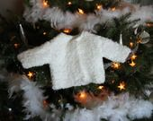 Gilet blanc neige pour naissance (et/ou prémature) en tricot avec moufles : Mode Bébé par vacri