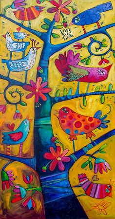 lovebirds by ART PRINTS ONLINE         by artist SARA  CATENA