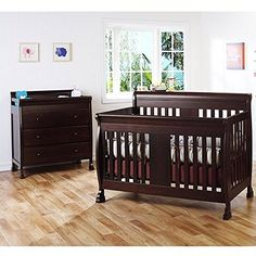DaVinci Porter 4in1 convertible Crib Crib and 3drawer Change in Espresso Including Toddler Rails ** Read more reviews of the product by visiting the link on the image.