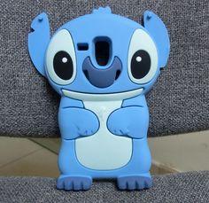 Blue New 3D Stitch Silicone Case Cover for Samsung Galaxy SIII S3 Mini I8190 - 6 + 6$