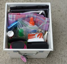 Create a summer outing survival kit. and keep in the back of the car so you're never wishing you had brought bug spray ;)