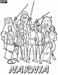 The Army Of Narnia Ready For Combat Coloring Page