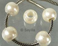 www.sayila-perlen.de - Kunststoff Perle 12x10mm mit Großes Loch (± 5mm) - 20913