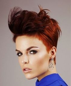20 red short hairstyles for strong women!