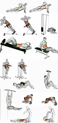 Helpful workout plans that are truly practical for beginners, both men and ladies to get fit. Visit this super fitness workout pin number 5979793846 today. Fitness Workouts, Abs Workout Routines, Weight Training Workouts, Gym Workout Tips, At Home Workouts, Workout Plans, Interval Training, Abdominal Exercises, Chest Workouts