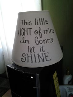 Lampshade with paint marker/glitter pen