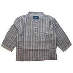 Wheat baby shirt grey stripes