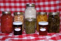 Self-sufficiency food skills - Home grown and home canned, prepared, and preserved foods.