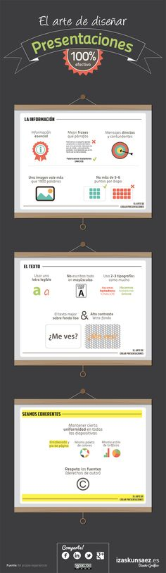 El arte de diseñar buenas presentaciones #infografia #infographic #marketing