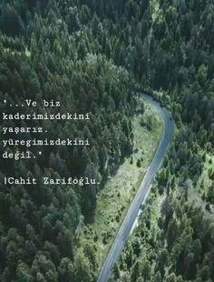 ve biz kaderimizdekini yaşarız yüreğimizdekini değil... English Quotes, Beautiful Words, Writer, Country Roads, Instagram, Heart, Nice Words, Pretty Words, English Quotations