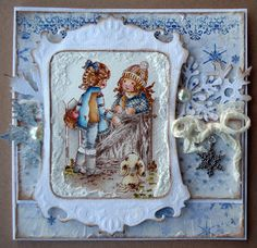 Sarah Kay,  Stampavie, Winter card, Distress Ink