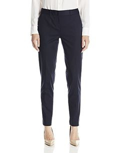 T Tahari Women's Marlena Pant, Navy, 10 >>> Learn more by visiting the image link.