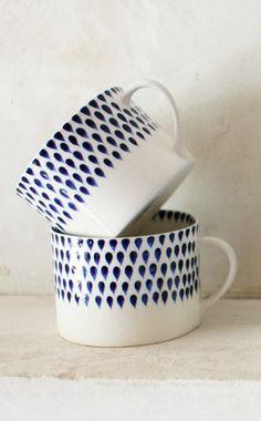 Indigo drop mug
