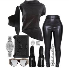 All Black Outfit Older Women Fashion, Womens Fashion, All Black Outfits For Women, Look Fashion, Fashion Outfits, Woman Outfits, Fashion Rings, Swagg, Passion For Fashion