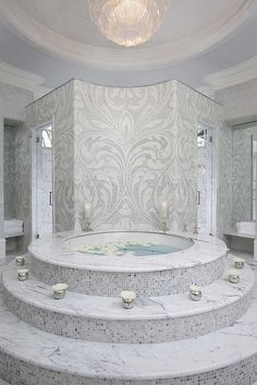 Master Bath  Private residence - Atlanta   Designed by Michael Habachy for showhouse