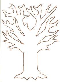 Vorlage zum Ausdrucken und Ausmalen - Baum