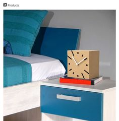 3D Paper Cardboard Square Clock Model Creative Home Decor Office Ornament [officesupplies06192053] - $21 : lovepaperworld.com