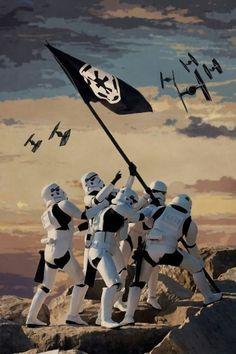 star wars, war Empire Puts Flag Star Wars Film, Star Trek, Star Wars Bb8, Nave Star Wars, Star Wars Clones, Images Star Wars, Star Wars Pictures, Anakin Vader, Darth Vader