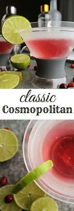 Classic Cosmopolitan #vodka classic vodka cocktail