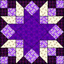 Blue Bayou quilt block, designed by Judy Martin. First published in her book, Scraps, Blocks & Quilts in Found on uvm. Quilt Block Patterns, Pattern Blocks, Quilt Blocks, Blue Bayou, Half Square Triangle Quilts, Star Blocks, Star Quilts, Needle And Thread, Quilt Making