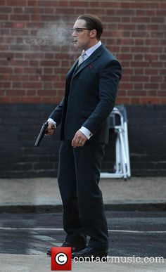 Tom Hardy Filming on the set of Kray Twins biopic 'Legend'