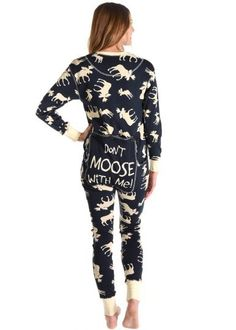 b022661a93 Blue Classic Moose Adult Flapjacks Onesie Blue Moose