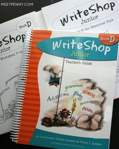 """Each writing project comes with variations to either make the assignment easier or more challenging. Having these variable ideas helps me teach each lesson to children who are close in writing ability even though they are in different grade levels."" Meet Penny reviews WriteShop Junior D."