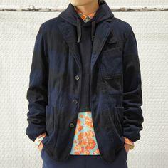 LAFAYETTE JACKET - Wide Stripe / Navy/Red / ¥56,700-