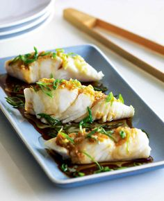 Halibut Recipes, Fish Recipes, Seafood Recipes, Asian Recipes, Cooking Recipes, Healthy Recipes, Steam Recipes, How To Cook Fish, Gastronomia